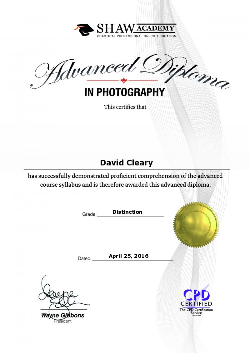 Advanced Photography Diploma