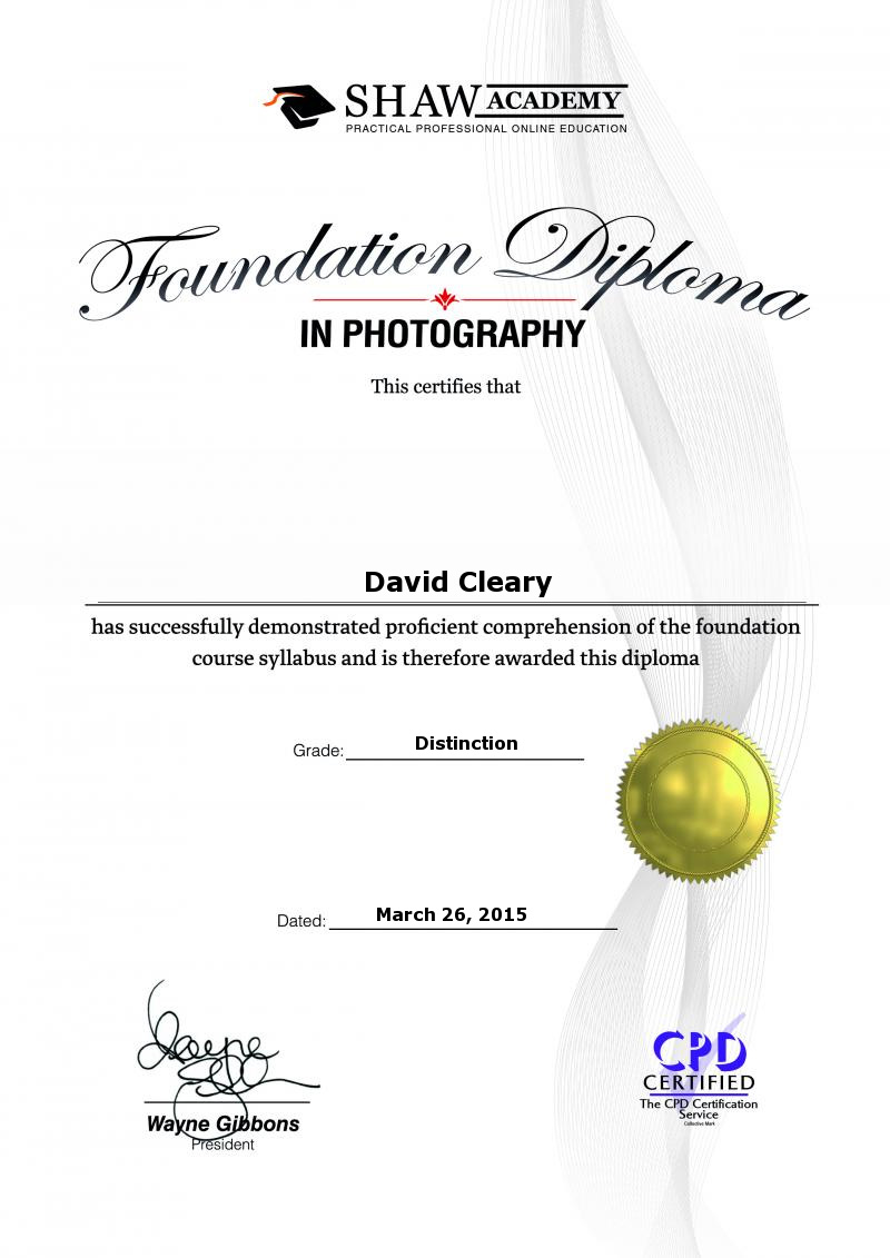 Photography Foundation Photography Diploma