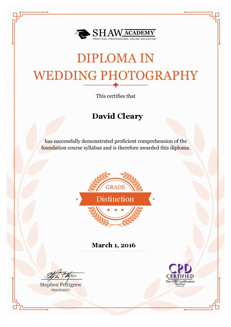 Wedding Photography Diploma