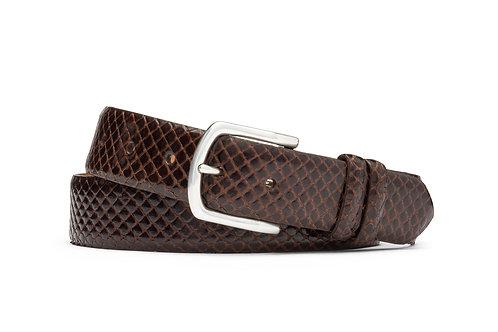 """1 3/8"""" Anaconda Belt with Nickel Buckle"""