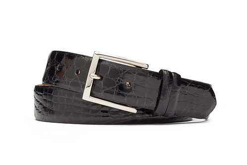 "1 1/4"" Tingas Crocodile Belt with Nickel Buckle"