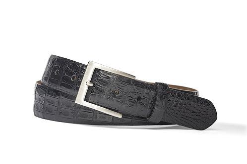 "1 3/8"" Matte Caiman Crocodile Belt with Brushed Nickel Buckle"