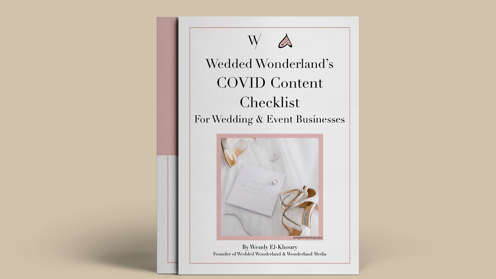 COVID Content Checklist For Weddings & Event Businesses