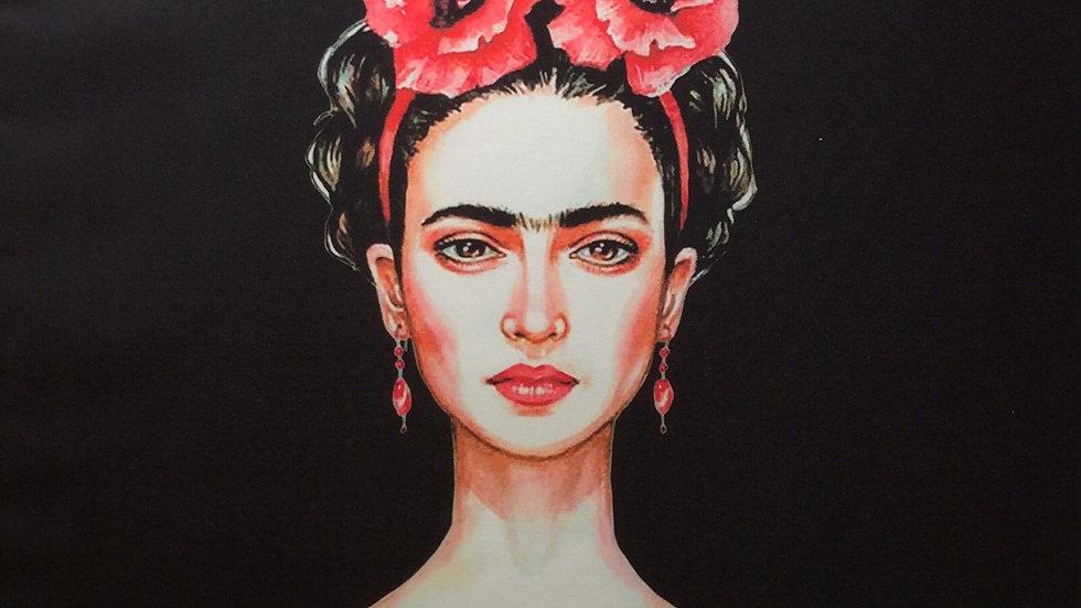 Tissu imprimé Frida Kahlo 70 X 70cm