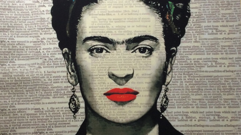 Tissu imprimé panneau Frida Kahlo 70 X70