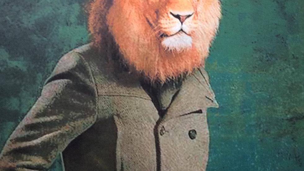 Tissu imprimé Panneau lion 70 x 70cm