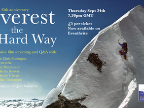 Everest the Hard Way 45th Anniversary Screening + Exclusive Q&A withSir Chris Bonington and members