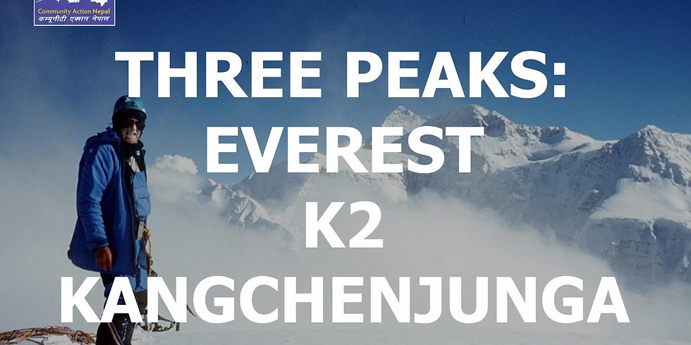 ROSEHILL, WHITEHAVEN : The Three Peaks - Everest, K2 and Kangchenjunga