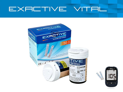 EXACTIVE VITAL TEST STRIPS 50 PCS