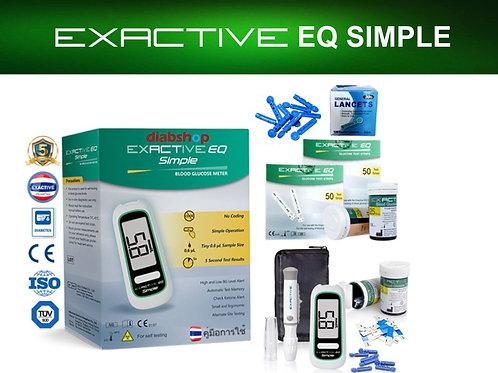 EXACTIVE EQ SIMPLE + 2 BOX TEST STRIPS + 1 BOX LANCETS