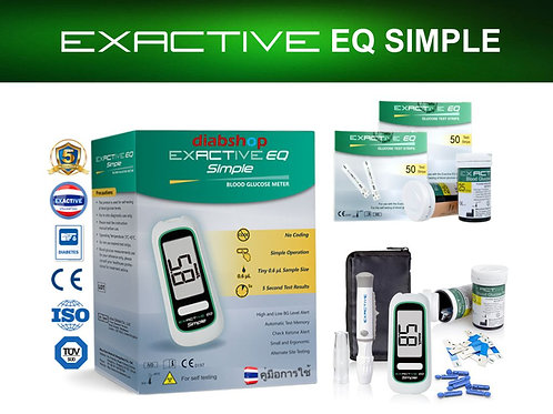 EXACTIVE EQ SIMPLE  GLUCOSE-METER + 2 EQ SIMPLE TEST STRIPS