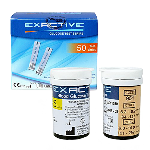 EXACTIVE VITAL TEST STRIPS 50PCS (no-coding)