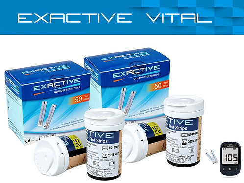EXACTIVE VITAL Test Strips 2 Boxes