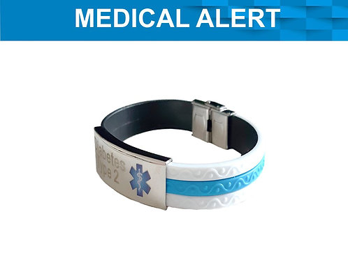 SILICONE MEDICAL ALERT DIABETES TYPE 1 OR 2