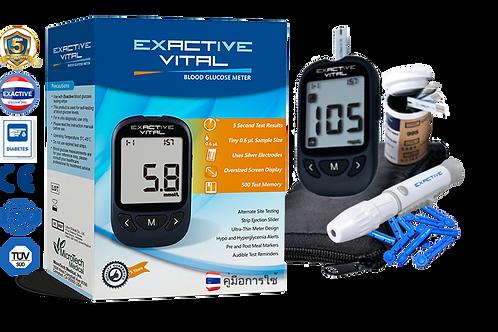 กลัก Exactive Vital เครื่องตรวจวัดน้ำตาลในเลือด Blood Glucose Meter
