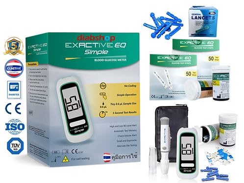 1 BOX EXACTIVE EQ SIMPLE + 2 BOX TEST STRIPS + 1 BOX LANCETS
