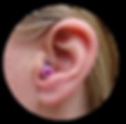 plug & play in ear, purple