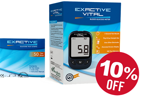 1 Box VITAL Test Strips + 10% Discount on the  Exactive VITAL Meter