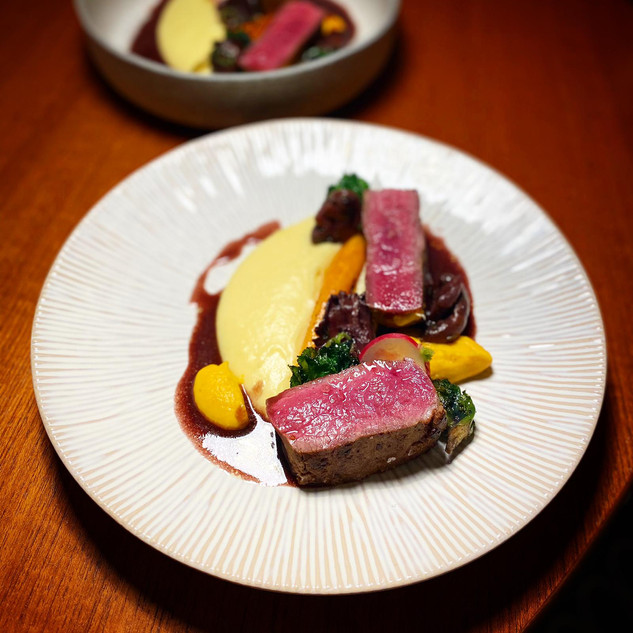 Venison and winter vegetables
