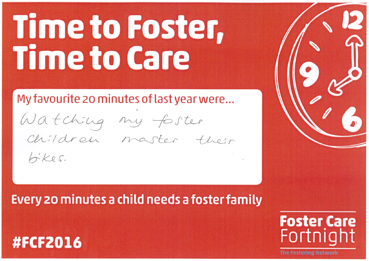 Time to Foster, Time to Care Sharon F