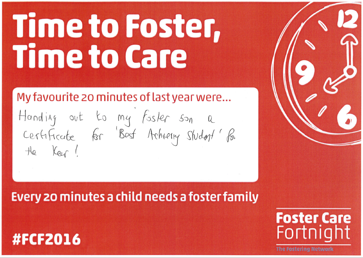 Time to Foster, Time to Care Paul Cordey