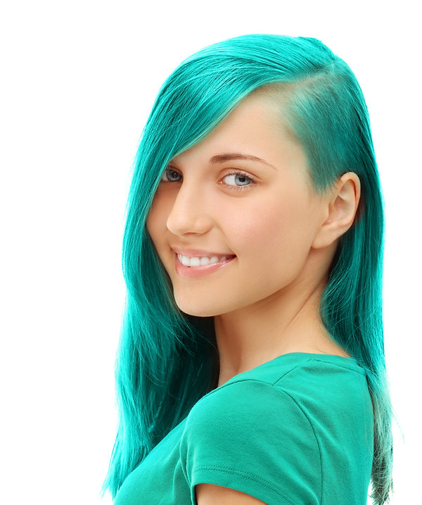 Teenage girl green hair.jpg
