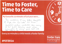Time to Foster, Time to Care Helen Saunders