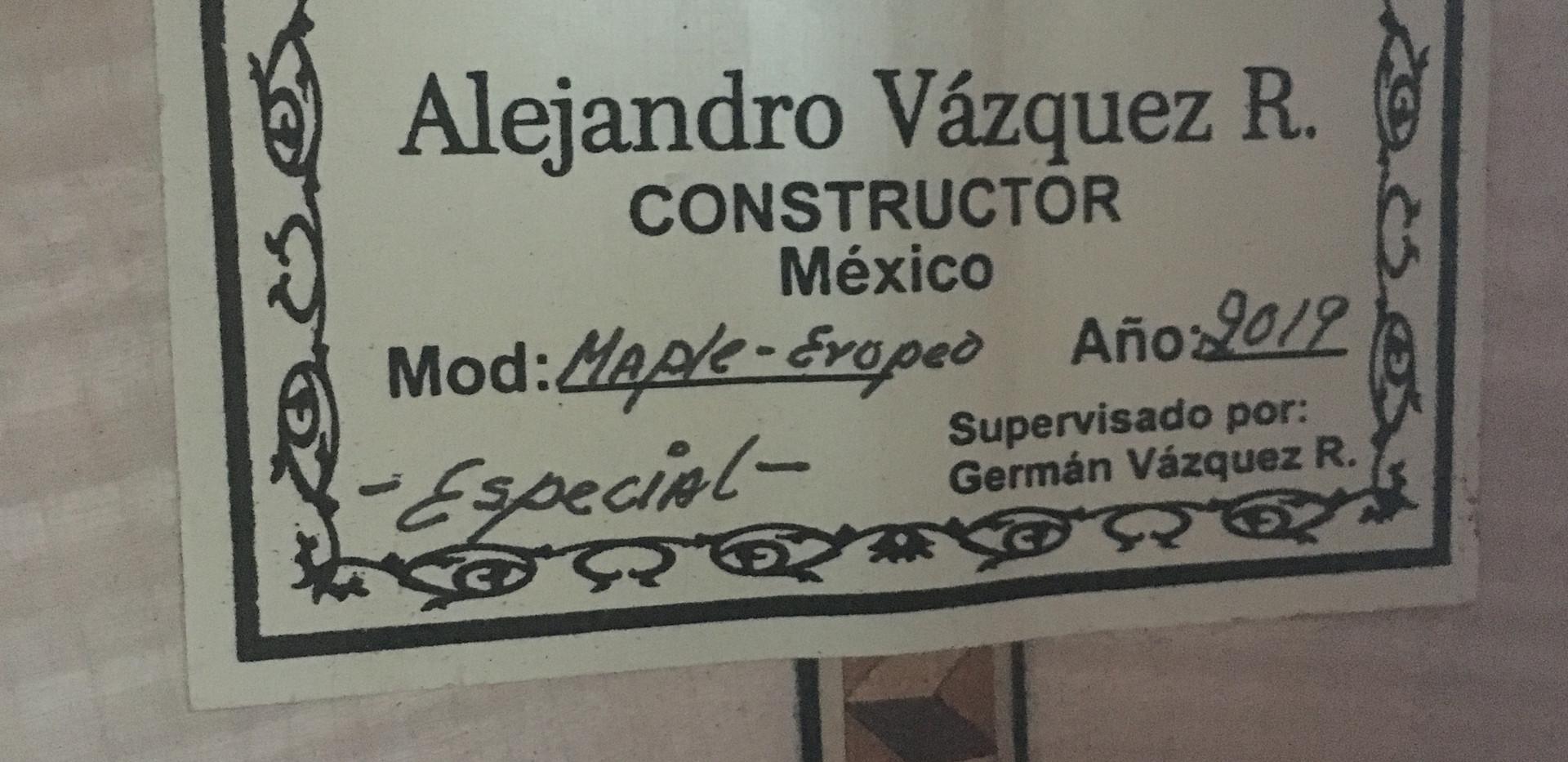 New Requinto Alejandro Vazquez Rubio