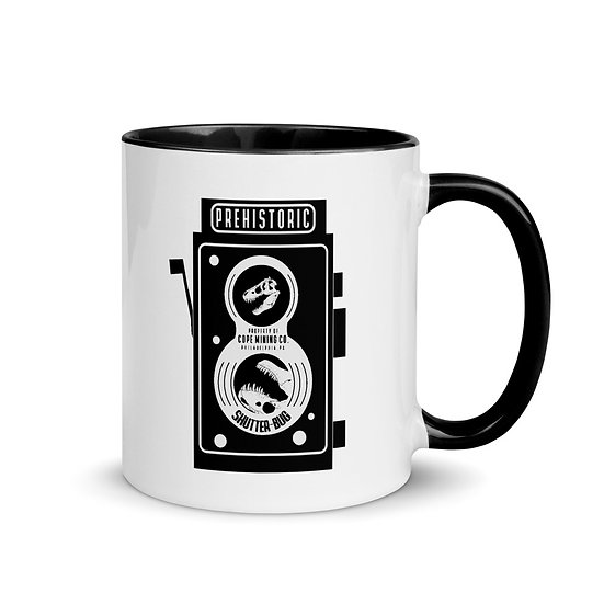 Prehistoric Shutterbug Dinosaur T-Rex Coffee Mug