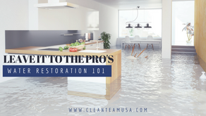 Water Restoration 101: Leave it to the Pro's