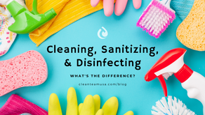 Cleaning, Sanitizing and Disinfecting. What's the difference?