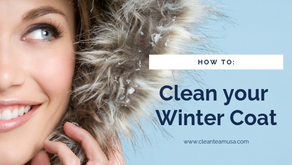 How to: Clean your Winter Coat