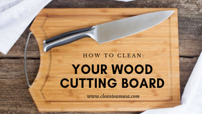 How to: Clean Your Wood Cutting Board
