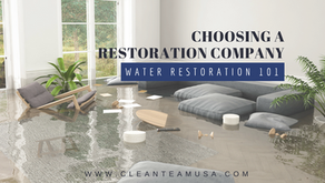 Water Restoration 101: Choosing a Restoration Company