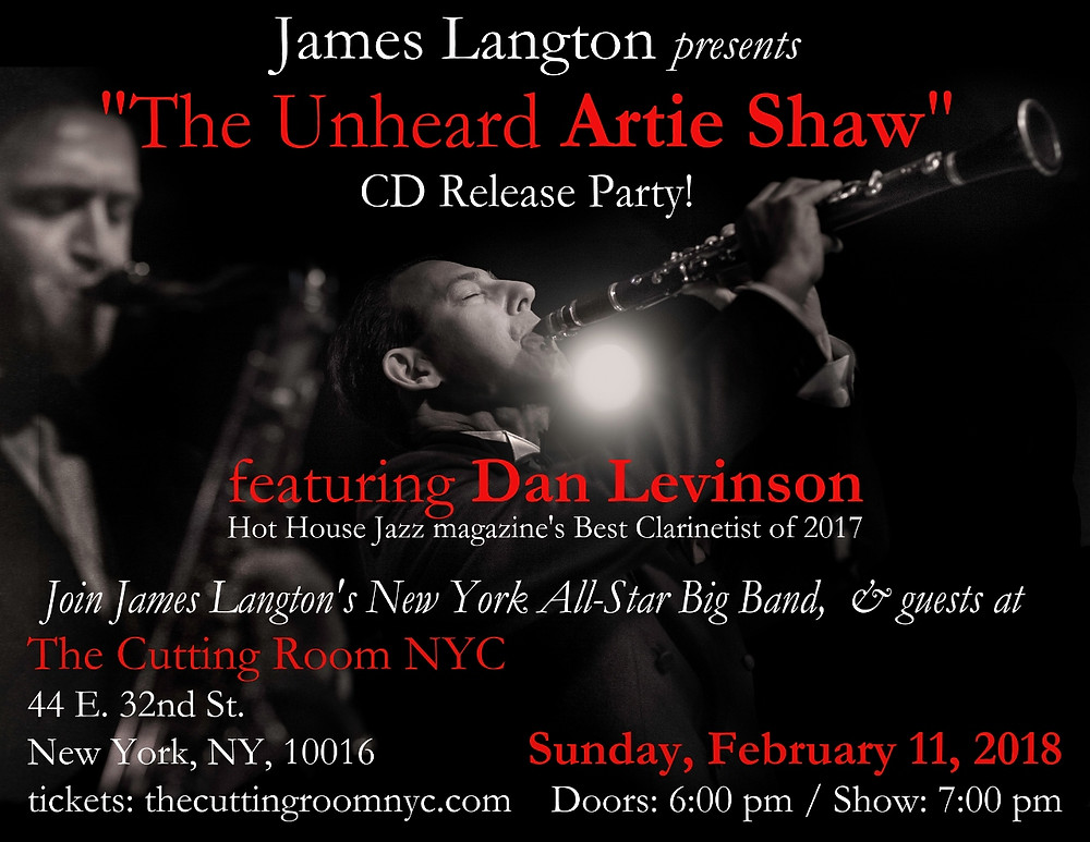 Poster for Cutting Room NYC concert feb 11 2018