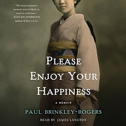 audiobook by James Langton Please Enjoy Your Happiness. book cover graphic