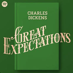 audiobook by James Langton Great Expectations spotify podcast graphic