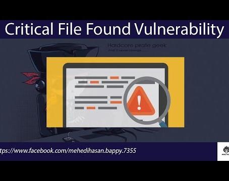 Critical File Vulnerability