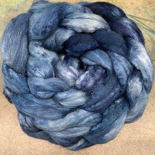 Merino/Mulberry Silk- Lapis