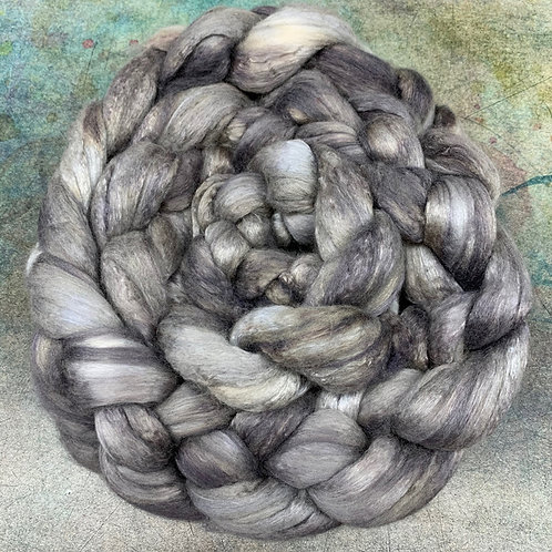 Merino/Mulberry Silk- Grey Blade