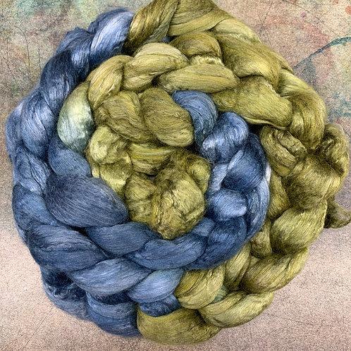 Merino/Mulberry Silk- Salt Marsh