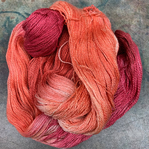Yak Silk Lace- Coral Beds