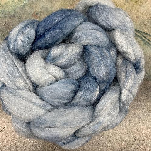 Merino/Tussah- Blue Steel
