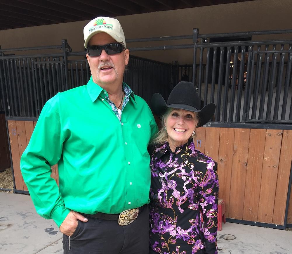 Robert Powell and Becky Roberts