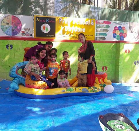 Holi celebration in Pool