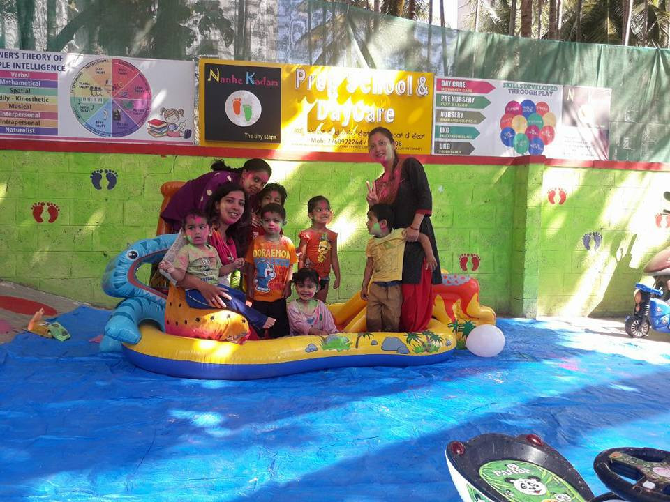 Holi celebration in Pool