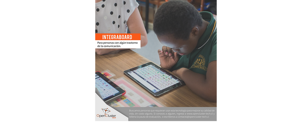 integraboard para personas con poblemas en el lenguaje