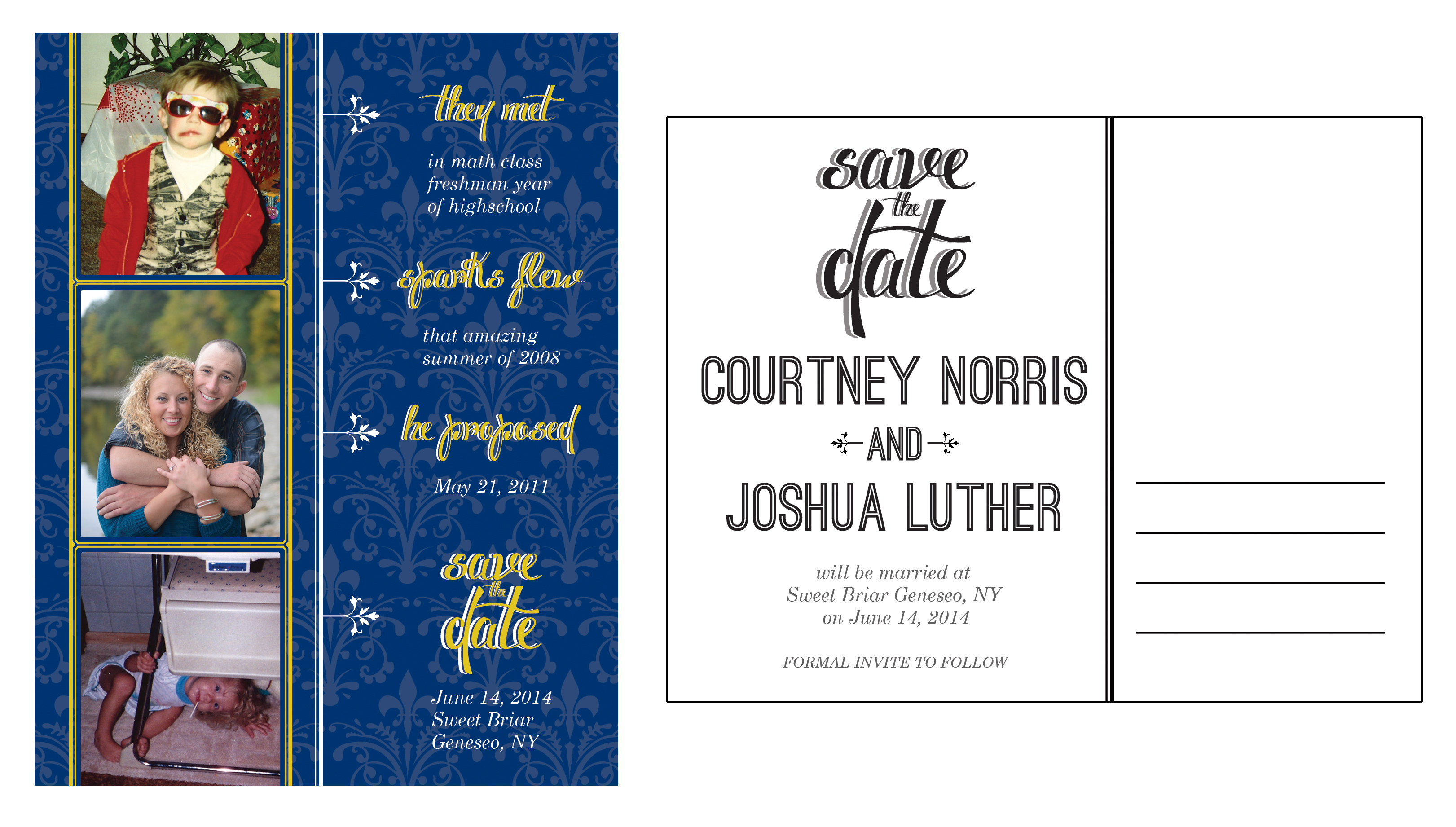 Courtney and Joshua Saves the Dates