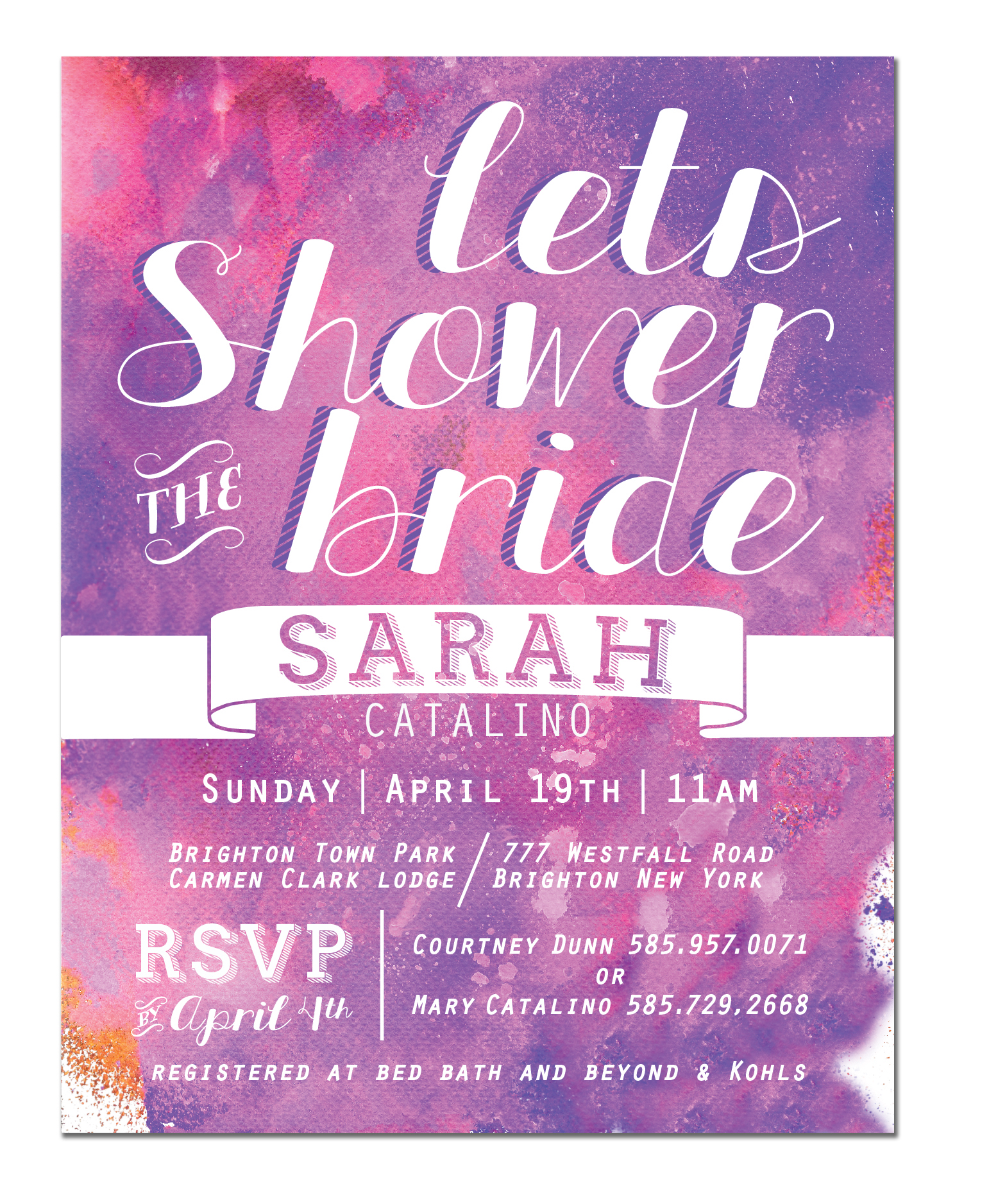 Sarahs Shower Invite