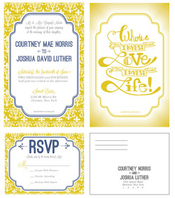 Courtney and Joshua invite and RSVP